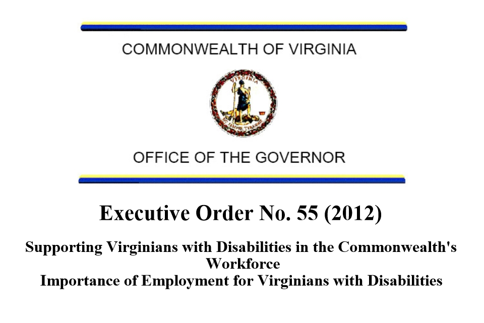 Executive Order 55 Supporting Virginians with Disabilities in the