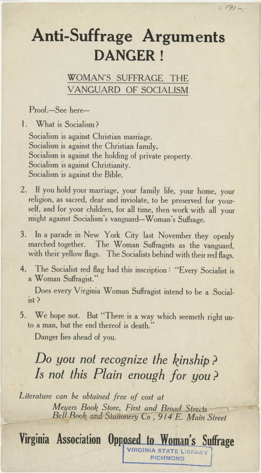 Bank Of America Anti-Suffrage Ar...
