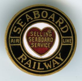 SEABOARD AIR LINE RAILROAD RAILROAD HAT PIN