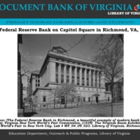 The Federal Reserve Bank in Richmond 1939 PDF DBVa.pdf