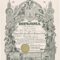 Diploma from Tobacco Exposition, 1889<br />
