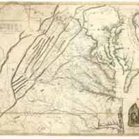 Joshua Fry and Peter Jefferson, A Map of the Most Inhabited Part of Virginia, 1755
