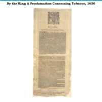 By the King A Proclamation Concerning Tobacco, 1630.pdf