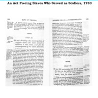 Freeing Slaves Who Served as Soldiers, 1783.pdf