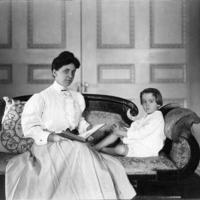 Woman and Child Reading, Photograph, n.d.