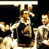 Arthur Ashe Accepting Trophy at Fidelity Bankers Invitational Tennis Tournament, Photograph, 1970