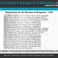 Regulations for the election of Burgesses,  1769.pdf