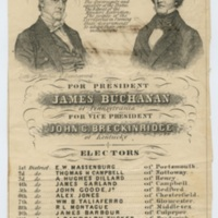 Buchanan/Breckinridge Presidential Ticket, Broadside, 1856