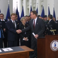 Bill Signing for Emergency Preparedness, Photograph, 2002