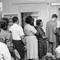 Voter Registration in Portsmouth, Virginia, Photograph, 1964 <br />
