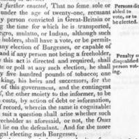 Regulations for the election of Burgesses,  1769.jpg