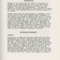 A Report on the Legal Status of Homemakers in Virginia, 1977