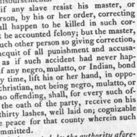 An act concerning Servants and Slaves, 1705.jpg