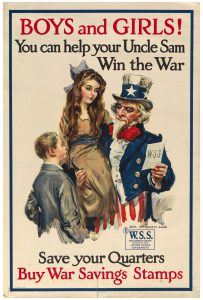 UNCLE SAM,  WORLD WAR I POSTER, 1918
