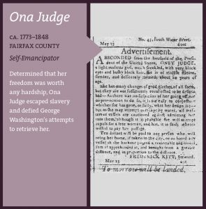 Ona Judge advertisement